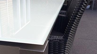 Glazen Eettafels Vierkant.Glas Materialen