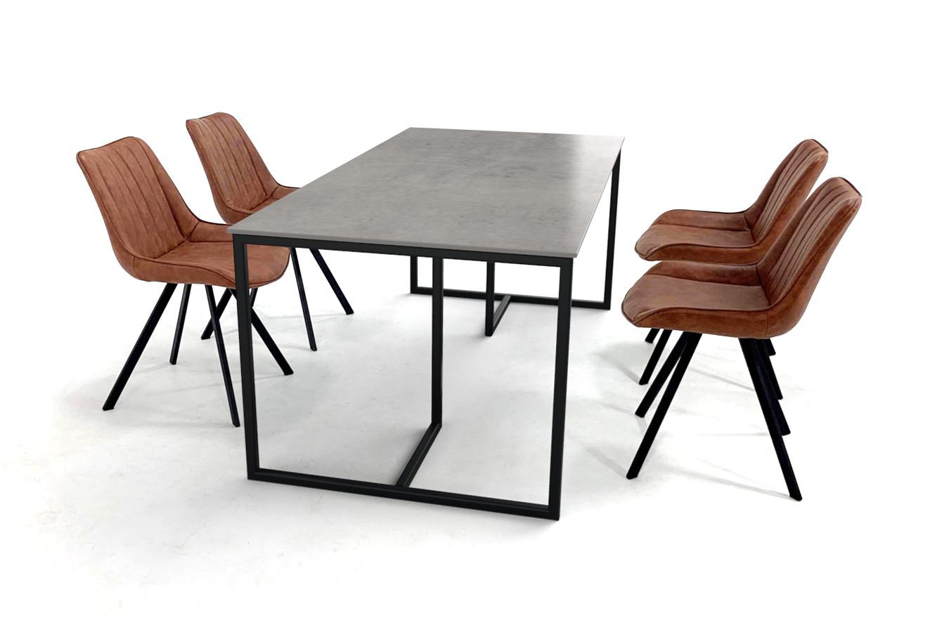 Tafelset van Scandinavisch design met dun keramisch tafelblad