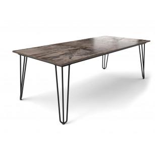Hairpin tafel met Dekton Trilium tafelblad