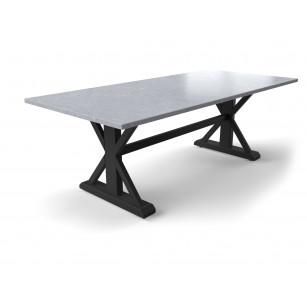 Robuuste tafel met betonlook hardstenen tafelblad
