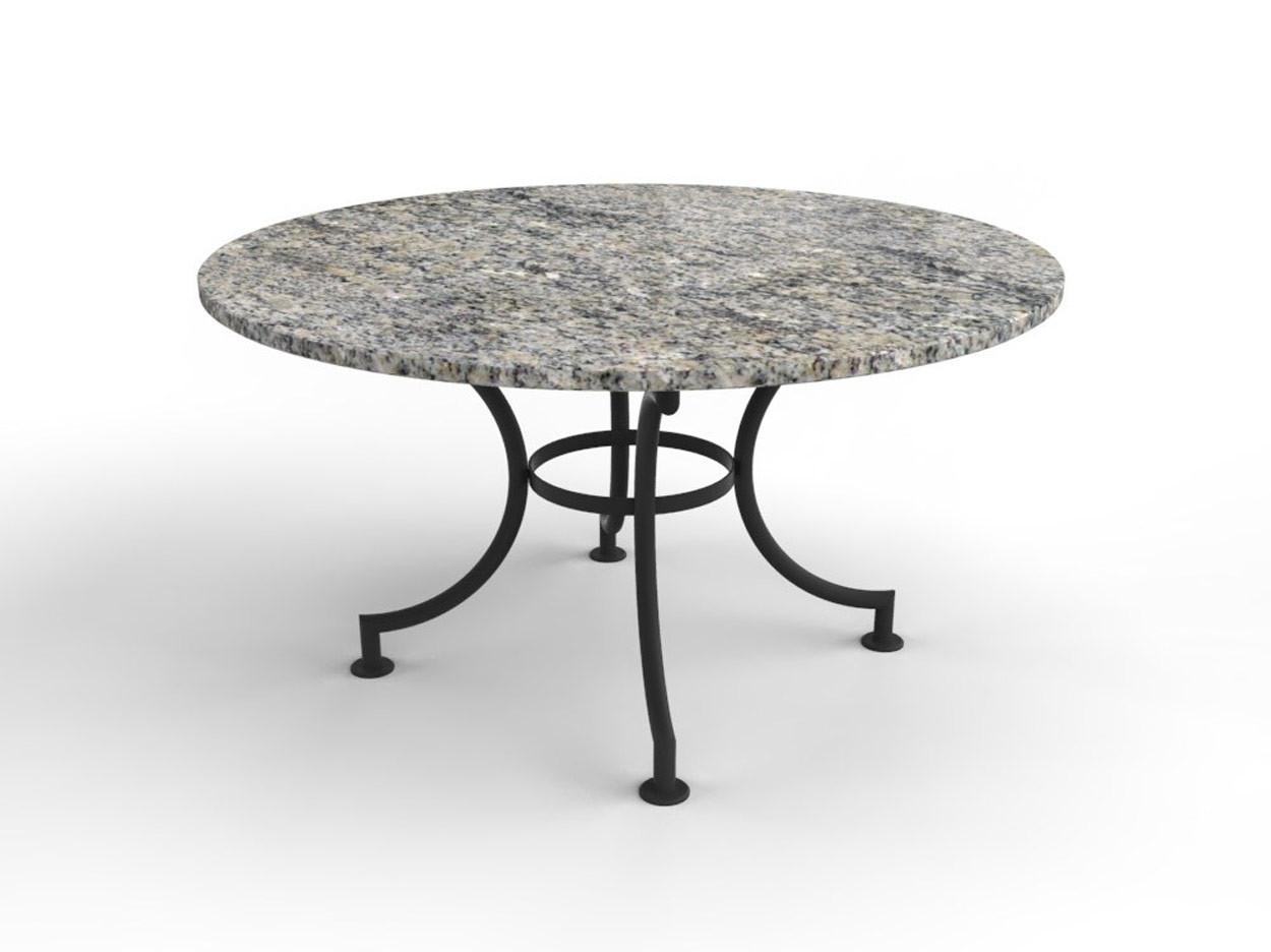 Ronde tuintafel met granieten tafelblad