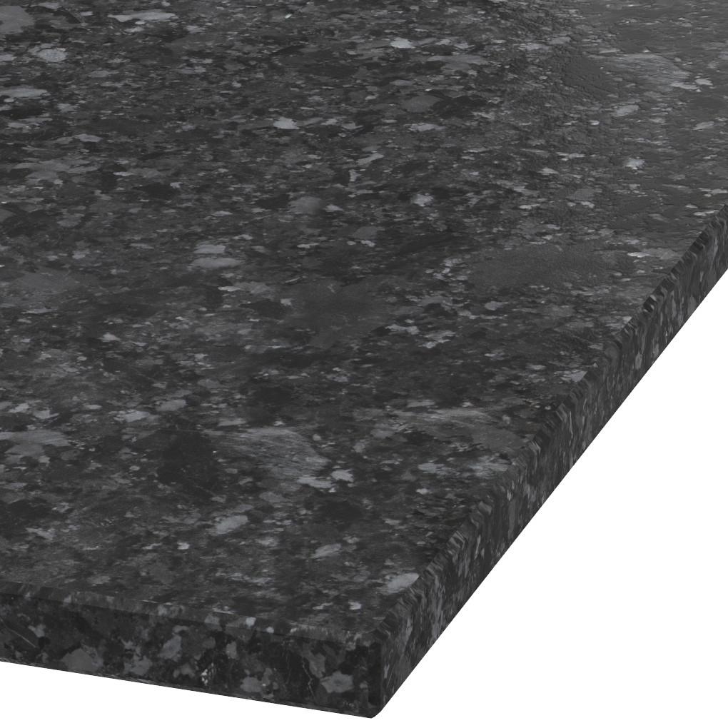 Blad 30mm dik Silver Black graniet (leathered)