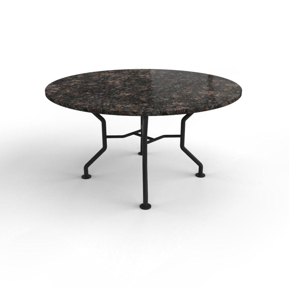 Ronde granieten tafel met stalen Universal onderstel
