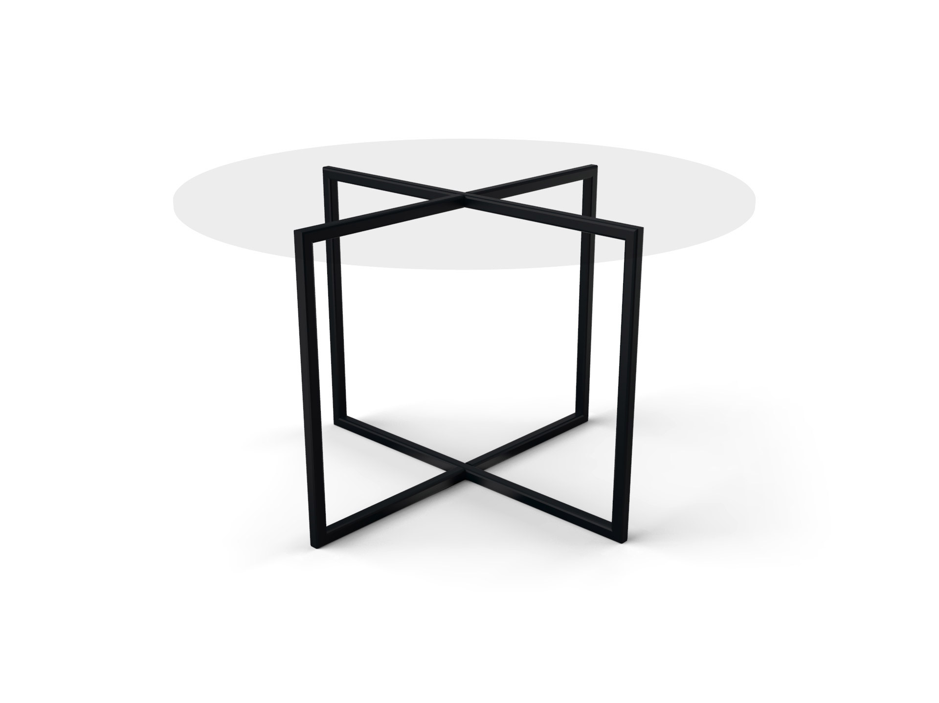 Tafelonderstel Lugo 2180x980mm zwart (mat, zandkorrelstructuur) gecoat